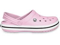 Летние кроксы Crocs Crocband розовые