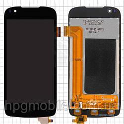 Дисплейный модуль (дисплей + сенсор) для Fly IQ4405 Quad Evo Chic, черный, оригинал