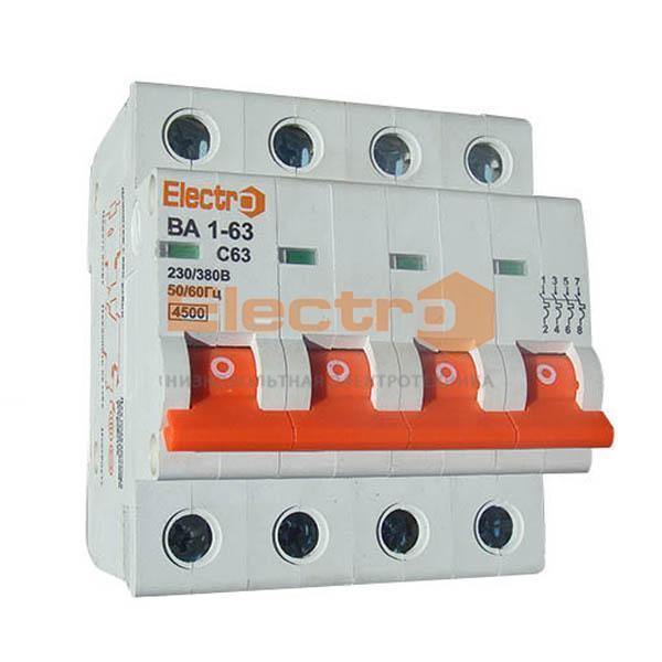 Модульный автоматический выключатель ВА1-63 4п