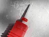 Насадка на фрезер керамическая палочка тонкая красная
