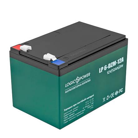 Аккумуляторная батарея LogicPower LP 6-DZM-12, AGM свинцово-кислотный, аккумулятор LP3536, акумулятор Лоджик Пауэр лп3536 лп lp 3536, фото 2