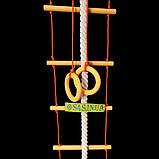 Детский набор для шведской стенки из дерева «ЭЛИТ», золотой подвесной веревочный, фото 2