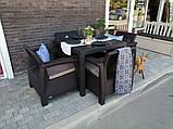 Комплект садових меблів Allibert by Keter Corfu Quattro With Melody Quartet, фото 3