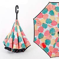 Умный зонт Наоборот (Осенние цветы) (уценка)