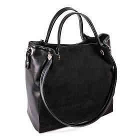 Женская сумка из кожзама М130-33/замш