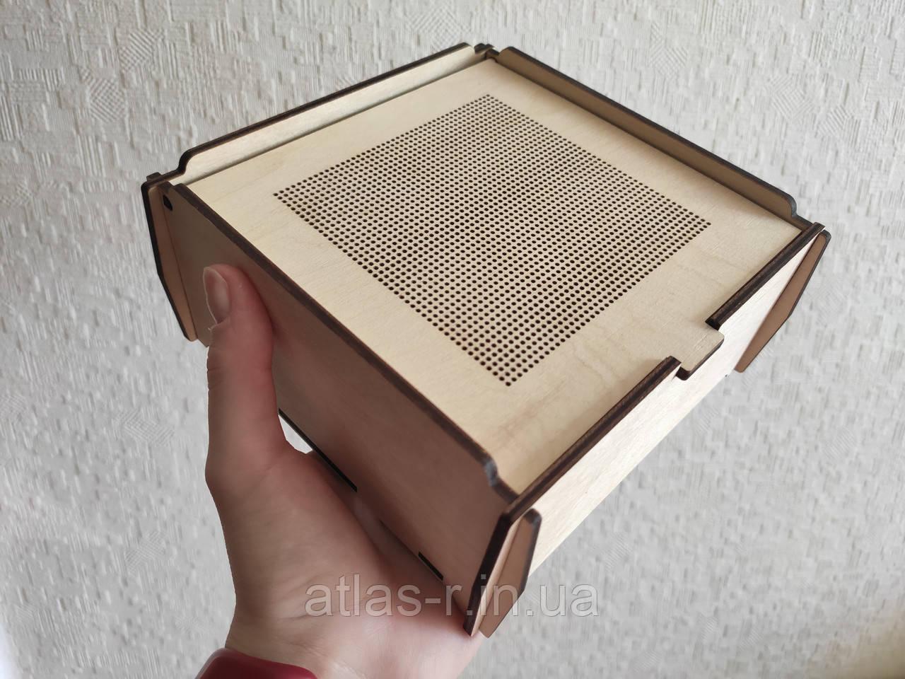 Дерев'яна скринька, коробка для вишивки бісером, нитками. Заготівля для декупажу