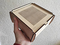 Дерев'яна скринька, коробка для вишивки бісером, нитками. Заготівля для декупажу, фото 1