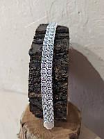 Серебный браслет 925 пробы двойной арабский Бисмарк с камнями