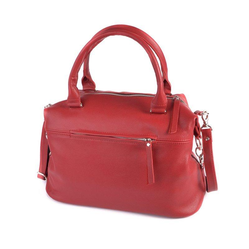 Жіноча сумка з натуральної шкіри М240 red