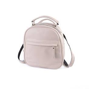 Кожаный рюкзак-трансформер М263  beige, фото 2