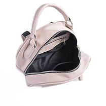 Кожаный рюкзак-трансформер М263  beige, фото 3
