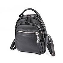 Кожаный женский рюкзак М265 black, фото 3