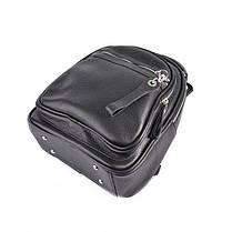 Кожаный женский рюкзак М265 black, фото 2