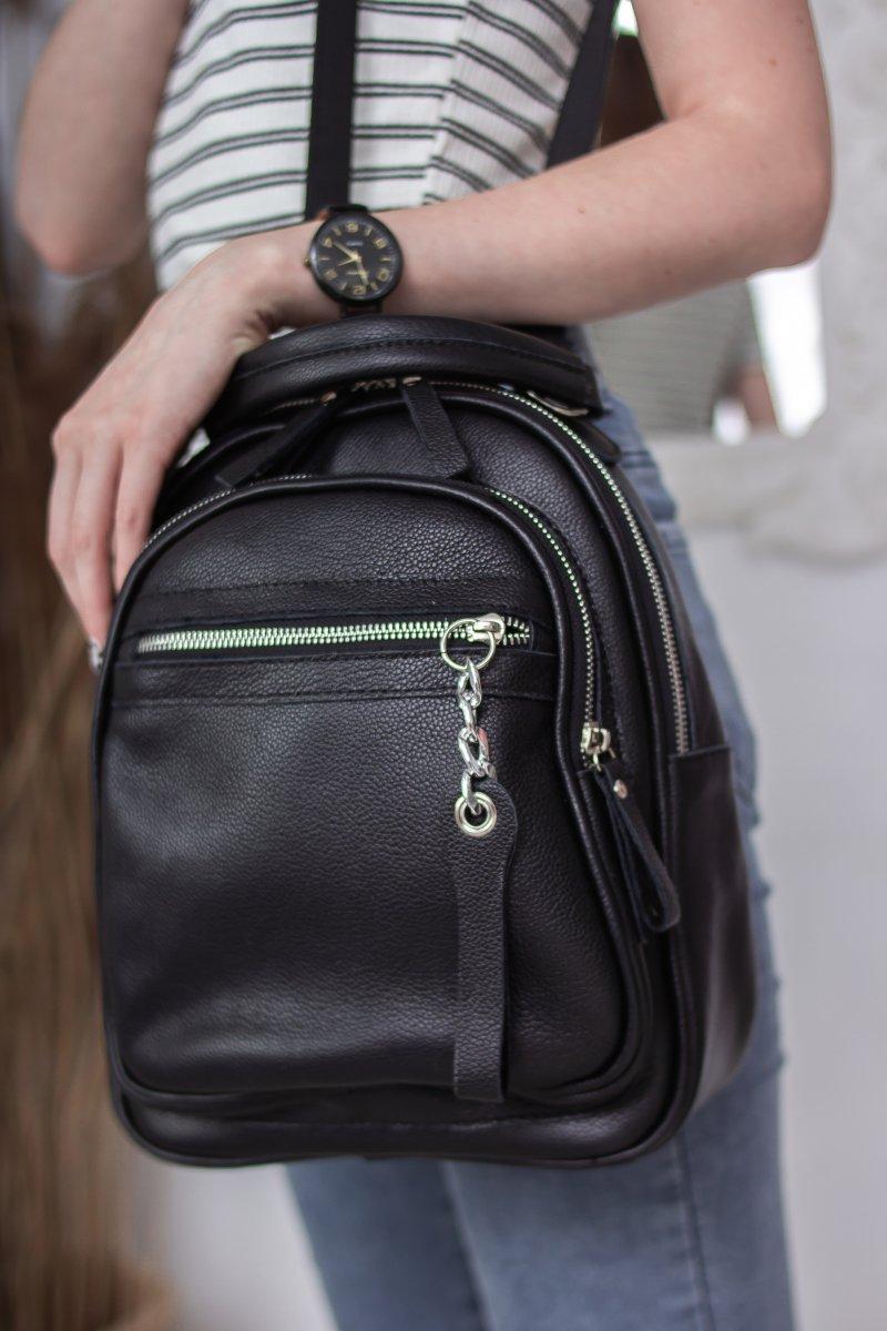 Кожаный женский рюкзак М265 black