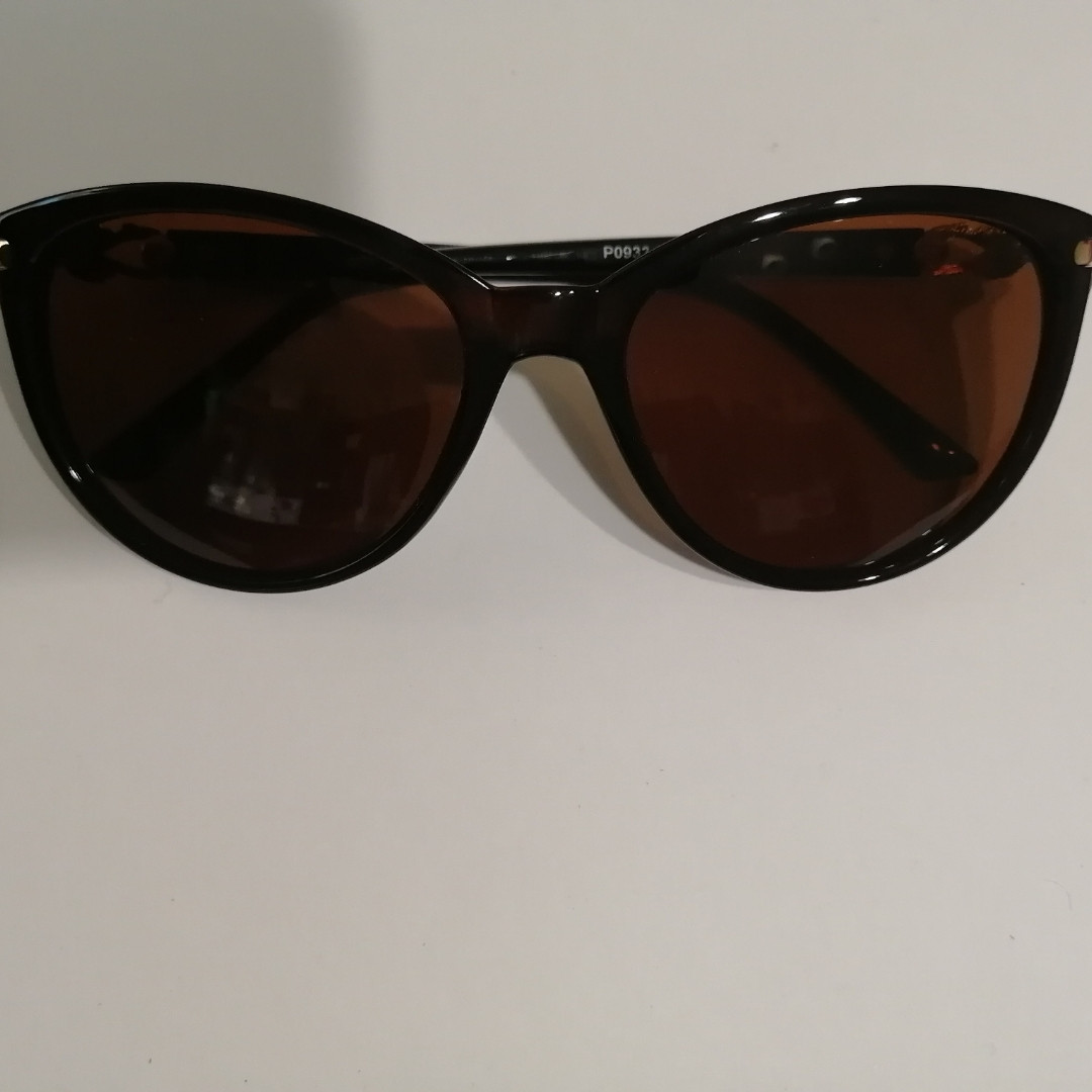 Солнцезащитные женские очки с полароидной линзой, коричневые