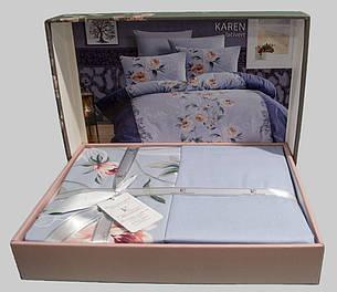 Комплект постільної білизни First Choice Ранфорс 200x220 Karen Leylak, фото 2
