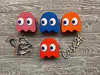 Чехол Pac-Man на Airpods розовый, фото 1