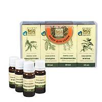Набор эфирных масел для сауны и бани 4 по 10 мл (F153)