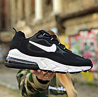 Nike Air Max 270 x React 'Punk Rock' (black white) | кроссовки мужские; весенние/летние; черно-белые; найк
