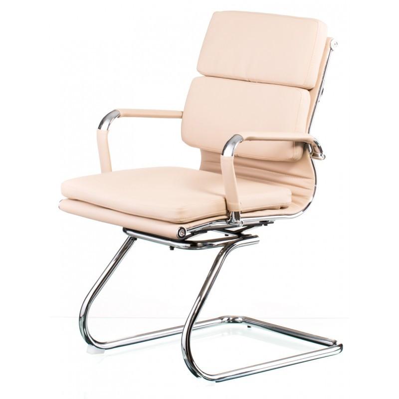 Крісло офісне Special4You Solano 3 office artleather beige (E5937)