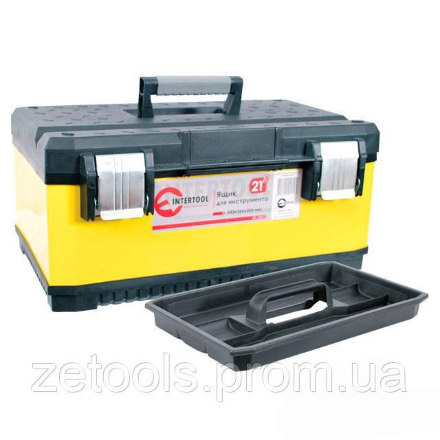 """Ящик для инструментов с металлическими замками, 21"""" 534x366x266 мм INTERTOOL BX-2021"""