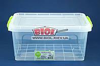 Контейнер 5л пищевой 310х205х138мм пластиковый прямоугольный прозрачный с ручками, крышкой Lux №06 Ал-Пластик, фото 1