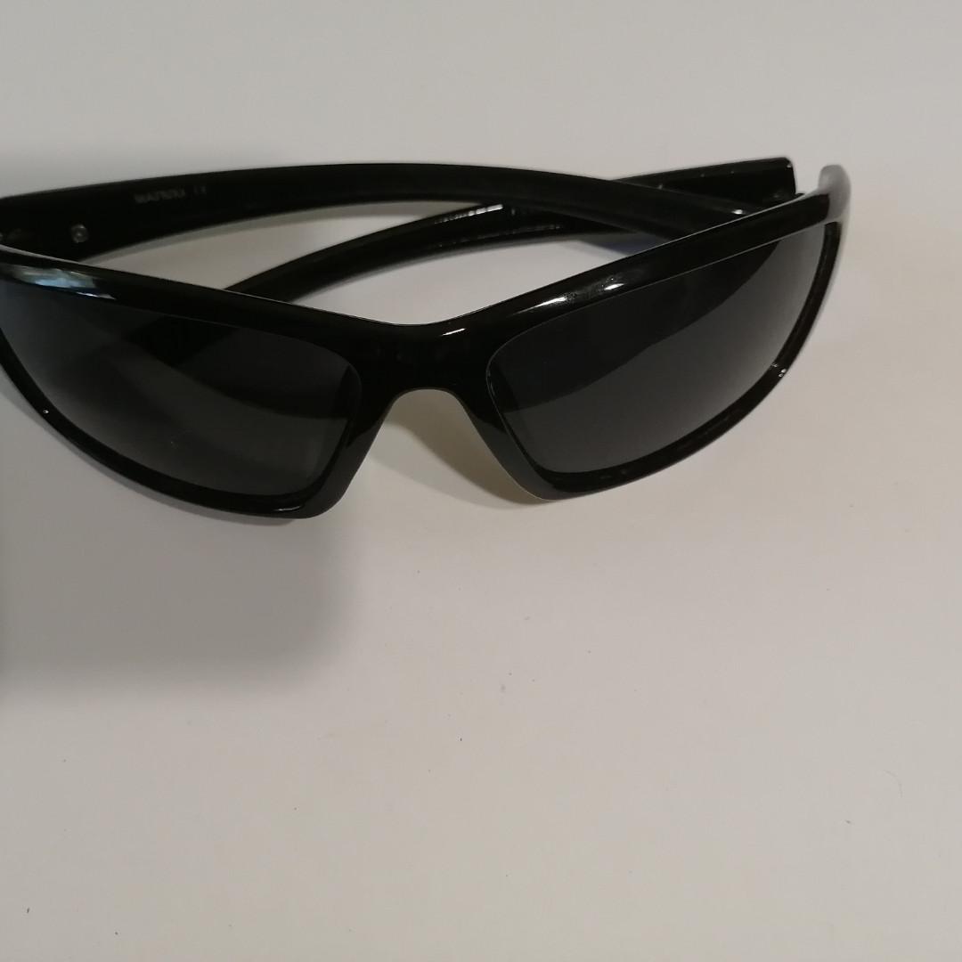 Мужские, солнцезащитные очки с полароидной линзой, спорт чёрный