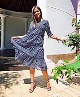 Летящее платье из натурального шифона от производителя!