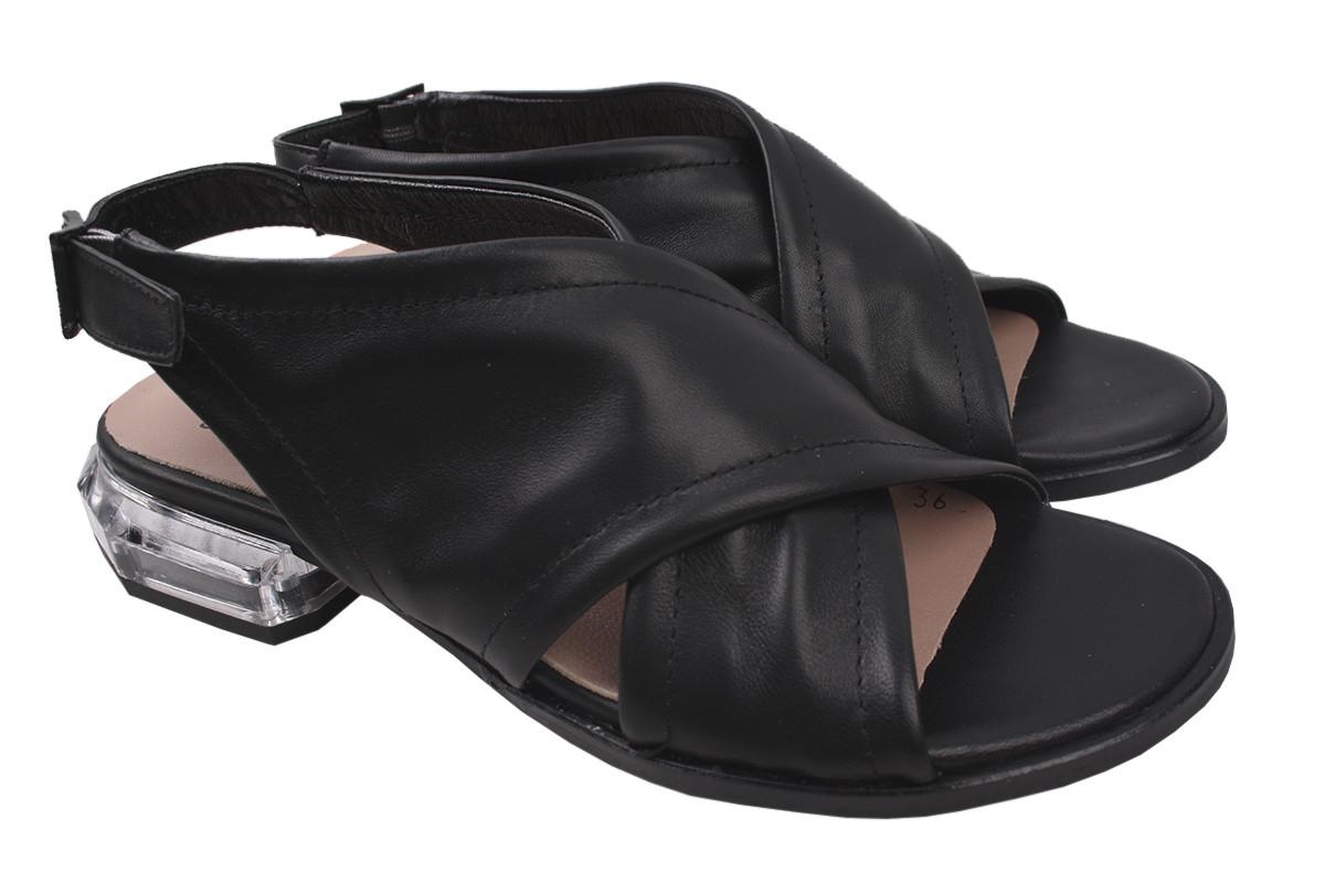Босоножки женские Aquamarin натуральная кожа, цвет черный, размер 36-40 Турция