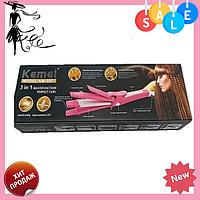 Плойка-утюжок Kemei GB-KM 987 3в1 | Утюжок выпрямитель для волос, фото 1