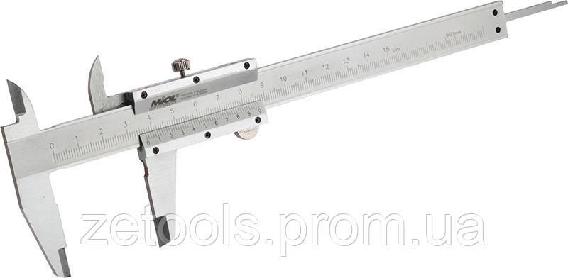 Штангенциркуль механічний 250мм/0,02 мм Miol 15-227