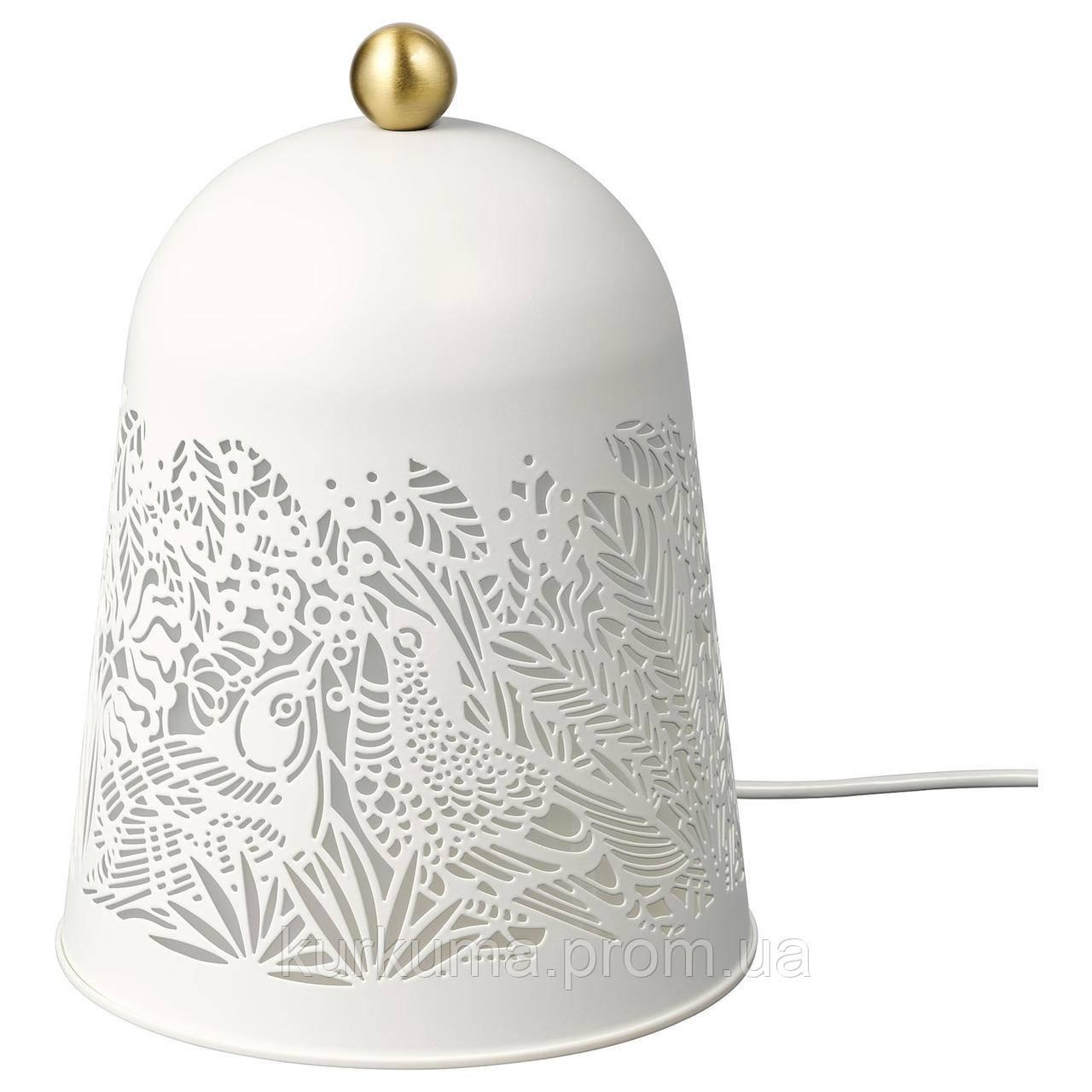 IKEA SOLSKUR Светодиодная настольная лампа, белый, латунный цвет (104.245.17)