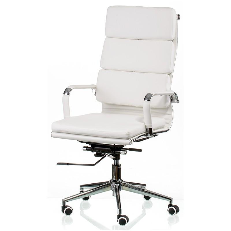 Крісло офісне Special4You Solano 2 artleather white (E5296)
