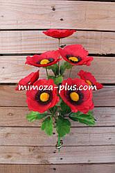 Искусственные цветы - Мак букет, 38 см