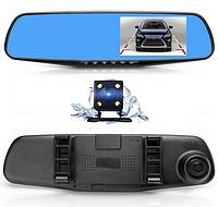 Автомобильный видеорегистратор зеркало DVR 1433 Full HD с камерой заднего вида, фото 1