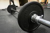 Резиновая плитка для тяжелой атлетики