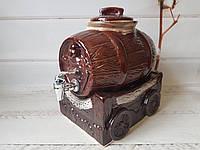 Керамический бочонок на подставке V 3 л, фото 1