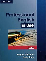 Учебник Professional English in Use Law + key