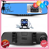 Автомобильный видеорегистратор зеркало DVR 1433 Full HD с камерой заднего вида