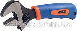 Ключ розвідний обгумована рукоятка 0-20 мм Miol 54-030