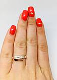 Кольцо в серебре с золотом и фианитами Нежность, фото 3