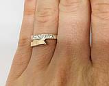 Кольцо в серебре с золотом и фианитами Нежность, фото 4