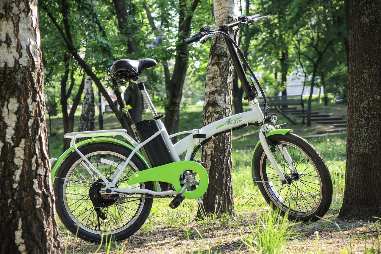 Електровелосипед Maxxter URBAN (white-green)