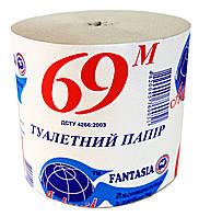 Туалетная бумага Астерикс 69 метров - 1 рулон (в спайке 20 рулонов)