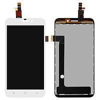 Дисплейный модуль (дисплей + сенсор) для Fly IQ452 Quad EGO Vision 1, белый, оригинал