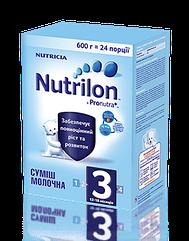 Nutrilon 3, 600 г. з 12 мес. смесь молочная