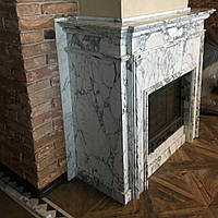Мраморный портал из мрамора Calacatta Arabescata