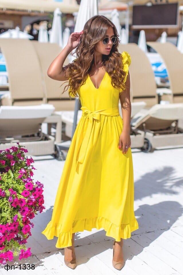 Женское летнее платье с открытой спиной 2 цвета