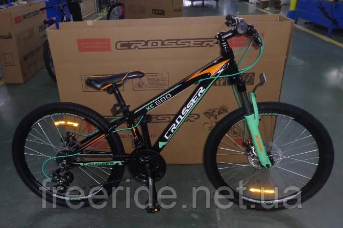 """Подростковый спортивный велосипед Crosser Boy 24"""" XC-200"""