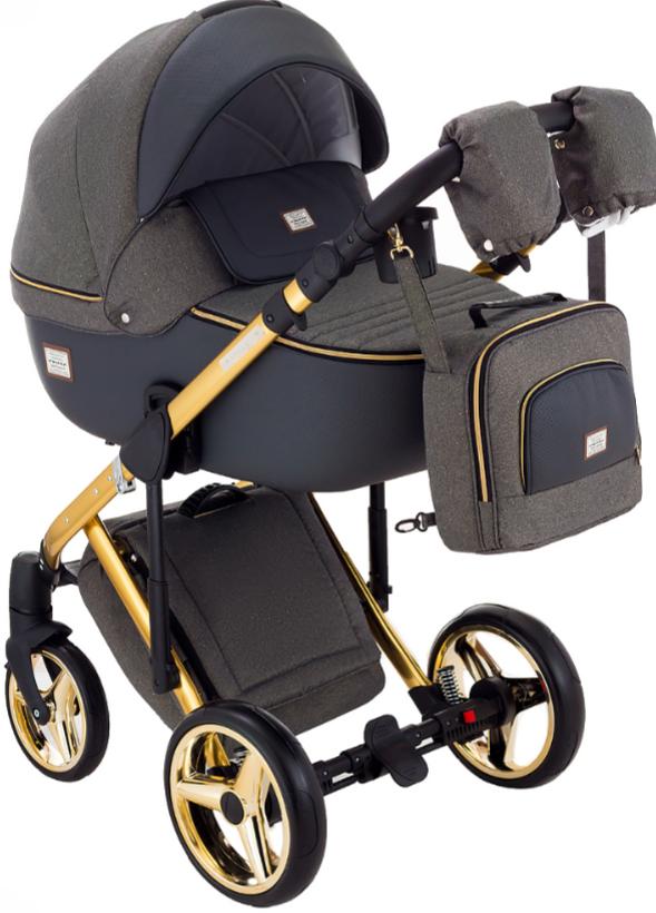 Детская универсальная коляска 2 в 1 Adamex Luciano Polar Graphite Q89